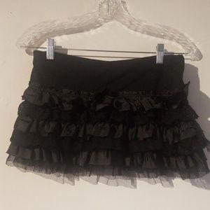 Hot Topic Ruffled Tutu Miniskirt Size Medium